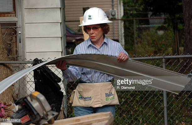 Rosalynn Carter during Habitat for Humanity 2005 Jimmy Carter Work Project Day 2 at Benton Harbor in Benton Harbor Michigan United States