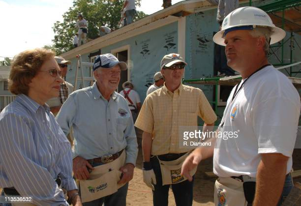 Rosalynn Carter Former President Jimmy Carter Jeff Carter and Robert A Niblock chairman/CEO of Lowes