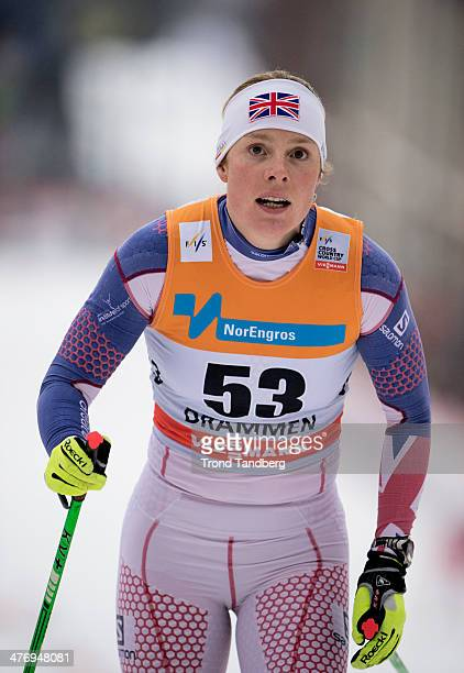 Rosamund Musgrave of GBR in action Womens 13 km Classic sprint FIS Cross Country world Cup on March 5 2014 in Drammen Norway