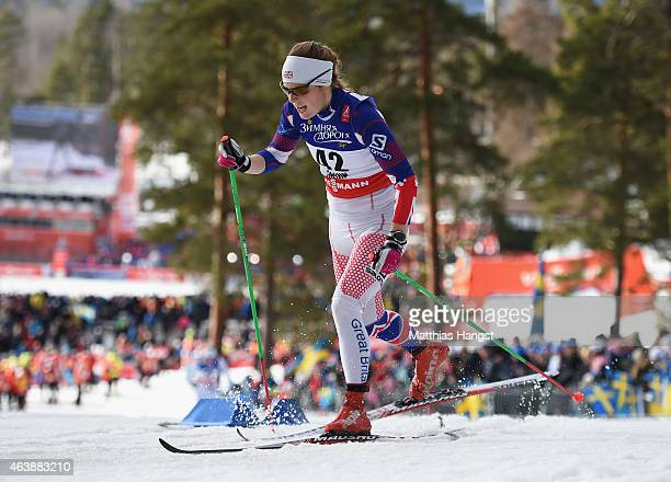 Rosamund Musgrave of Great Britain competes during the Women's CrossCountry Sprint Qualification during the FIS Nordic World Ski Championships at the...