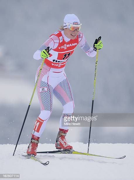Rosamund Musgrave of Great Britain competes during the Women's Team Sprint Semifinals at the FIS Nordic World Ski Championships on February 24 2013...