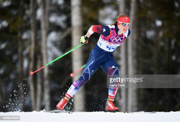Rosamund Musgrave of Great Britain competes in Qualification of the Ladies' Sprint Free during day four of the Sochi 2014 Winter Olympics at Laura...