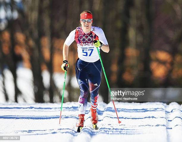 Rosamund Musgrave of Great Britain competes in the Women's 10 km Classic during day six of the Sochi 2014 Winter Olympics at Laura Crosscountry Ski...