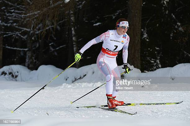 Rosamund Musgrave of Great Britain in action during the Women's Cross Country Individual 10km at the FIS Nordic World Ski Championships on February...