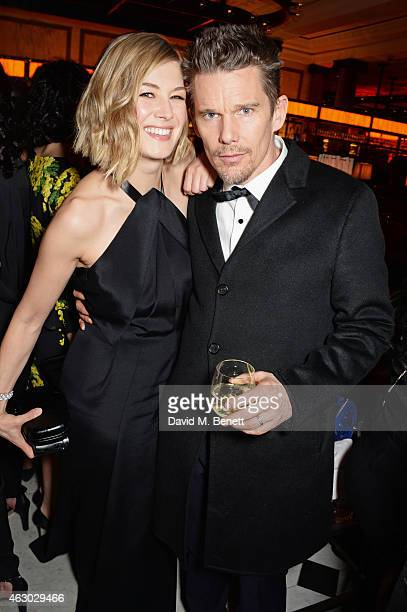 Rosamund Pike and Ethan Hawke attend The Weinstein Company Entertainment Film Distributor StudioCanal 2015 BAFTA After Party in partnership with...