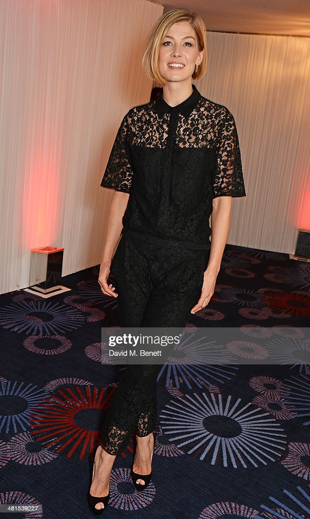 Rosamund Pike arrives at the Jameson Empire Awards 2014 at The Grosvenor House Hotel on March 30, 2014 in London, England.