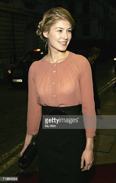 Rosamund Pike arrives at the premiere of The Queen at the Curzon Mayfair on September 13 2006 in London England