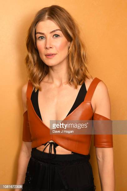 Rosamund Pike attends A Private War Special QA Screening at Regent Street Cinema on December 12 2018 in London England