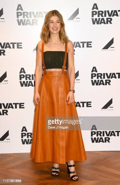 Rosamund Pike attends a QA screening of A Private War at Odeon Leicester Square on February 04 2019 in London England