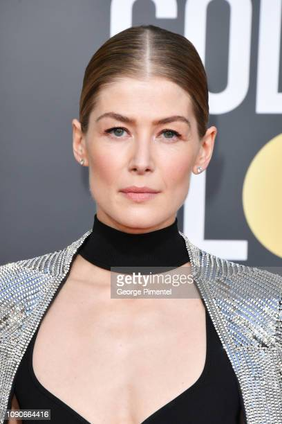Rosamund Pike attends the 76th Annual Golden Globe Awards held at The Beverly Hilton Hotel on January 06 2019 in Beverly Hills California