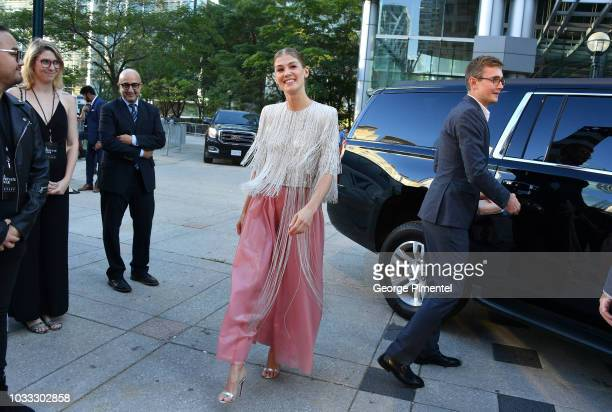 """Rosamund Pike attends the """"A Private War"""" premiere during 2018 Toronto International Film Festival at Roy Thomson Hall on September 14, 2018 in..."""