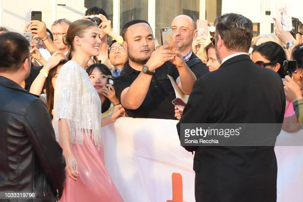 Rosamund Pike attends the 'A Private War' premiere during 2018 Toronto International Film Festival at Roy Thomson Hall on September 14 2018 in...
