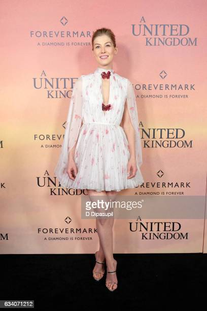 Rosamund Pike attends the 'A United Kingdom' world premiere at The Paris Theatre on February 6 2017 in New York City