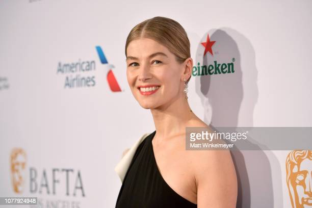 Rosamund Pike attends The BAFTA Los Angeles Tea Party at Four Seasons Hotel Los Angeles at Beverly Hills on January 5, 2019 in Los Angeles,...