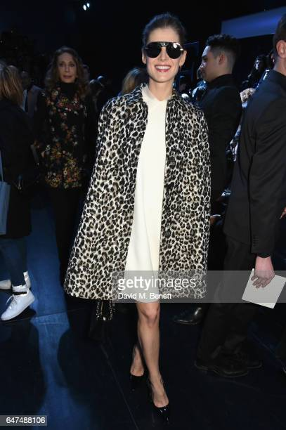 Rosamund Pike attends the Christian Dior show as part of the Paris Fashion Week Womenswear Fall/Winter 2017/2018 on March 3 2017 in Paris France