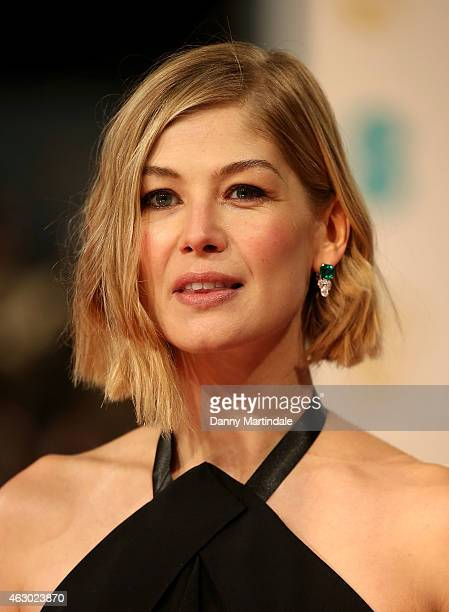Rosamund Pike attends the EE British Academy Film Awards at The Royal Opera House on February 8 2015 in London England