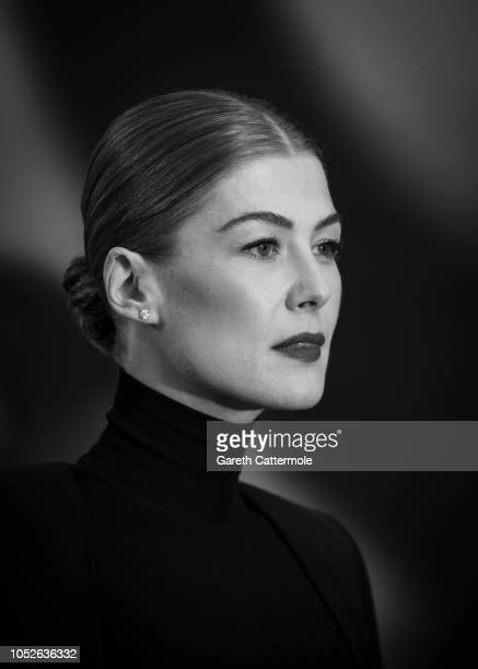 Rosamund Pike attends the European Premiere of A Private War Mayor of London gala during the 62nd BFI London Film Festival on October 20 2018 in...