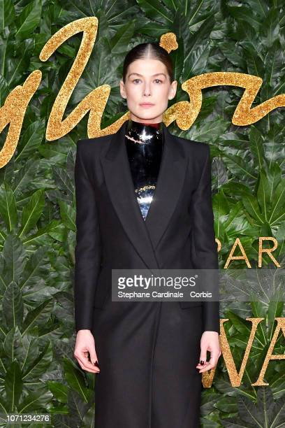 Rosamund Pike attends the Fashion Awards 2018 in partnership with Swarovski at Royal Albert Hall on December 10 2018 in London England