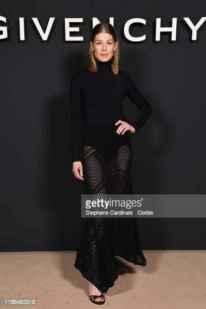 Rosamund Pike attends the Givenchy show as part of the Paris Fashion Week Womenswear Fall/Winter 2019/2020 on March 03, 2019 in Paris, France.