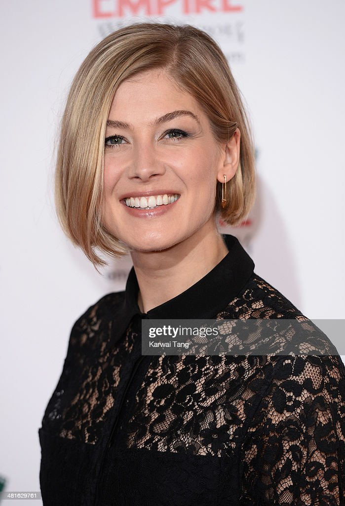 Rosamund Pike attends the Jameson Empire Film Awards at Grosvenor House on March 30, 2014 in London, England.