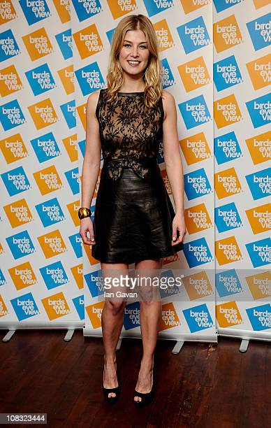 Rosamund Pike attends the launch of the 7th Annual Birds Eye View Film Festival 2011 held at The Century Club on January 25 2011 in London England
