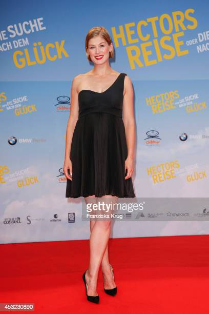 Rosamund Pike attends the premiere of the film 'Hector and the Search for Happiness' at Zoo Palast on August 05 2014 in Berlin Germany