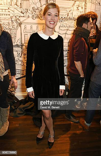 Rosamund Pike attends the press night after party for 'The Master Builder' at The Old Vic Theatre on February 3 2016 in London England