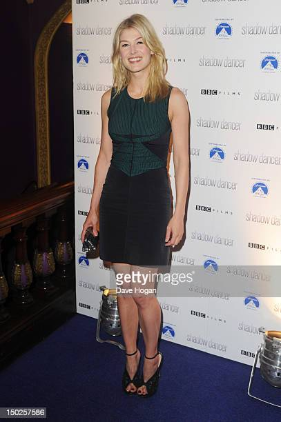 Rosamund Pike attends the UK premiere of Shadow Dancer at The Cineworld Haymarket on August 13 2012 in London England