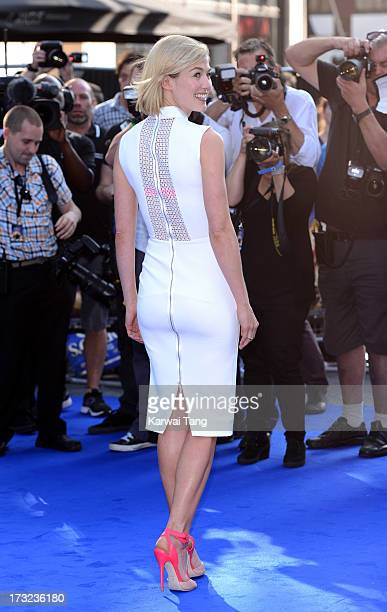 Rosamund Pike attends the World Premiere of 'The World's End' at Empire Leicester Square on July 10 2013 in London England