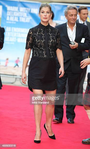 Rosamund Pike attends the World Premiere of 'What We Did On Our Holiday' at Odeon West End on September 22 2014 in London England