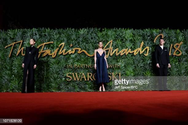 Rosamund Pike Bianca Brandolini D'Adda and Alexandre Arnault arrives at The Fashion Awards 2018 In Partnership With Swarovski at Royal Albert Hall on...