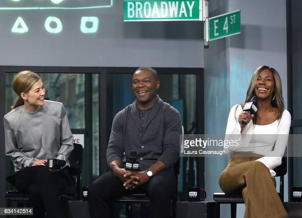 Rosamund Pike David Oyelowo and Amma Asante attend Build Series to discuss 'A United Kingdom' at Build Studio on February 7 2017 in New York City
