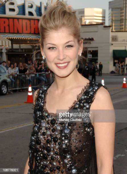 Rosamund Pike during 'Fracture' Los Angeles Premiere Red Carpet at The Mann Village Theatre in Westwood California United States