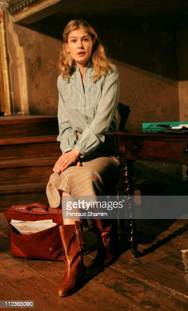 Rosamund Pike during Performances Photocall at Wilton's Music Hall July 4 2006 at Wilton's Music Hall in London Great Britain