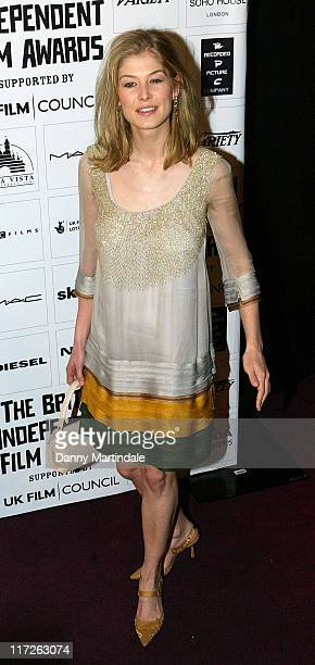Rosamund Pike during The British Independent Film Awards Red Carpet Arrivals in London Great Britain
