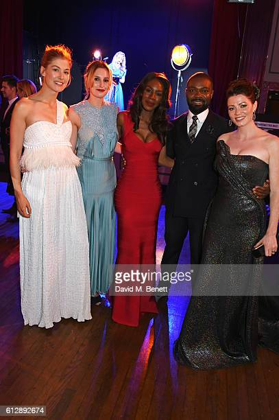 Rosamund Pike Laura Carmichael Amma Asante David Oyelowo and Jessica Oyelowo attend the 'A United Kingdom' Opening Night Gala after party during the...