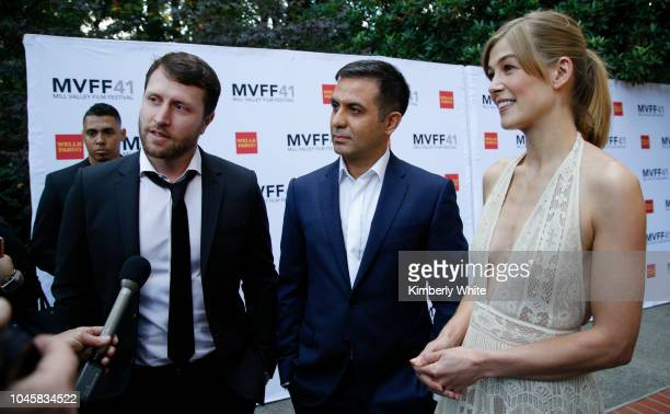 Rosamund Pike Matthew Heineman and Arash Amel attend the 41st Mill Valley Film Festival Opening Night Gala Premieres Of Green Book And A Private War...