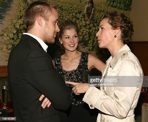 Rosamund Pike Ryan Gosling and Embeth Davidtz during Fracture Los Angeles Premiere After Party in Westwood California United States