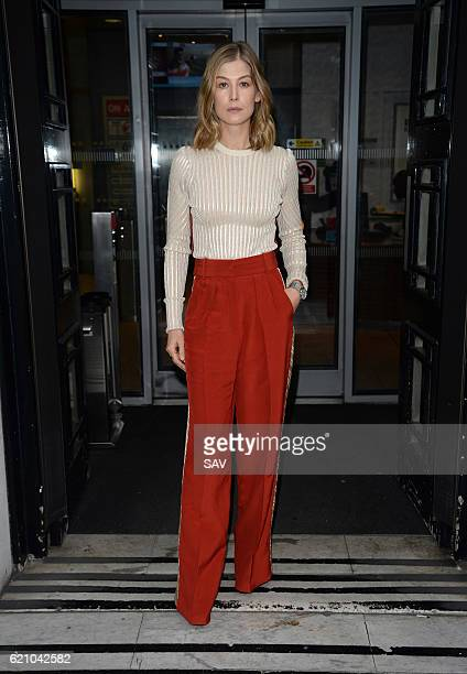Rosamund Pike sighting at BBC Radio 2 on November 4 2016 in London England