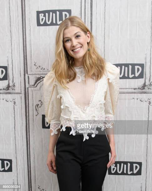 Rosamund Pike visits Build Series to discuss Hostiles at Build Studio on December 18 2017 in New York City