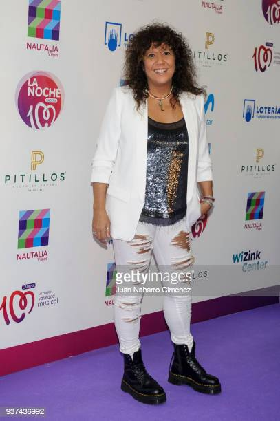 Rosana attends 'La Noche De Cadena 100' charity concert at WiZink Center on March 24 2018 in Madrid Spain