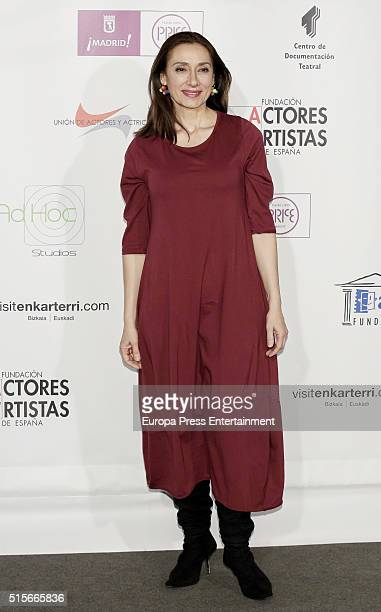 Rosana Pastor attends the Union de Actores awards 25th anniversary on March 14 2016 in Madrid Spain