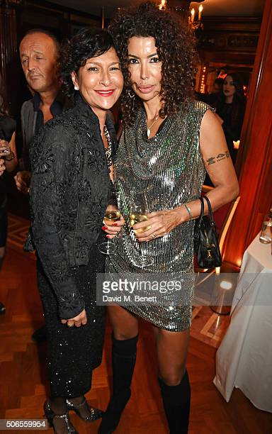 Rosann Benett and Isis Monteverde attend Lisa Tchenguiz's birthday party on January 23 2016 in London England