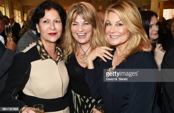 Rosann Benett Carol Ashby and Jilly Johnson attend a party celebrating 40 years of Langan's Brasserie on April 3 2017 in London England