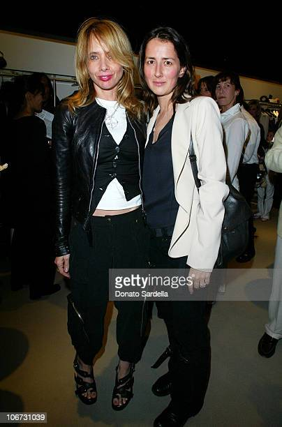 Rosanna Arquette and Anna Getty during Cerruti and David Cardona CoHost Private Party to Celebrate the Opening of Cerruti Beverly Hills Benefiting...