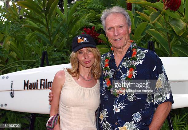 Rosanna Arquette and Clint Eastwood during 2002 Maui Film Festival Clint Eastwood Honored with Piper Heidsieck Silversword Award at Grand Wailea...