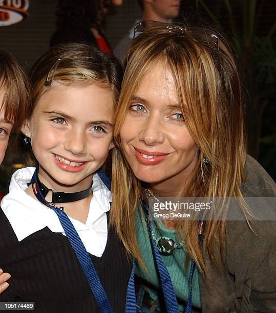 """Rosanna Arquette and daughter during """"The Cat In The Hat"""" World Premiere at Universal Studios Cinema in Universal City, California, United States."""