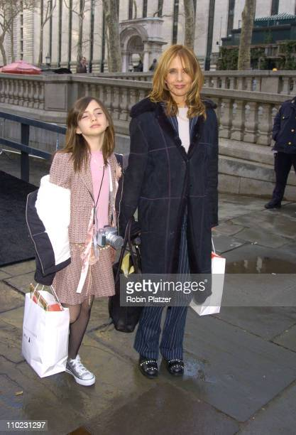 Rosanna Arquette and daughter Zoe during Olympus Fashion Week Fall 2005 The Heart Truth Red Dress Collection Fashion Show Departures at Olympus...