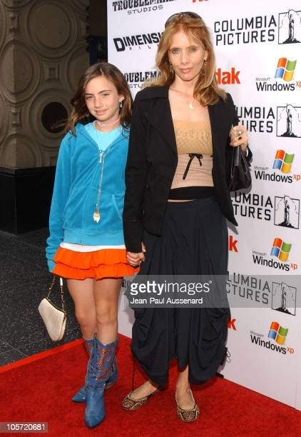 Rosanna Arquette and daughter Zoey during 'The Adventures of Sharkboy Lavagirl in 3D' Los Angeles Premiere Arrivals at El Capitan Theater in...