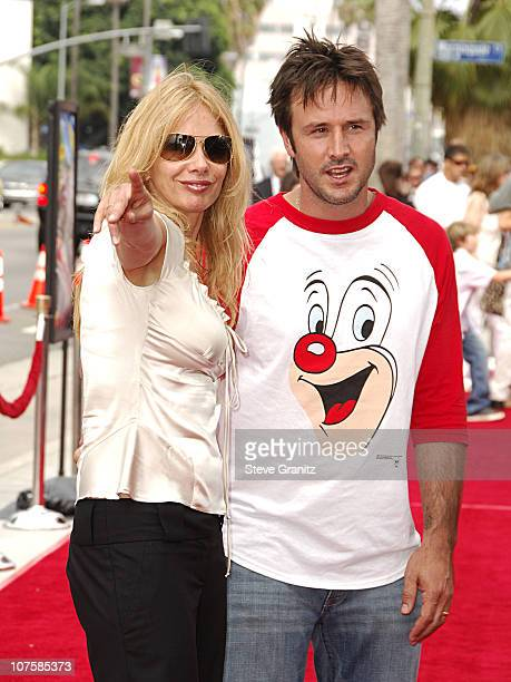 Rosanna Arquette and David Arquette during Barnyard World Premiere Arrivals at Cinerama Dome in Hollywood California